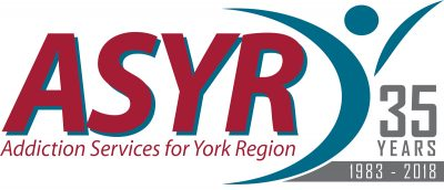 Addictions Services for York Region 35th Anniversary logo