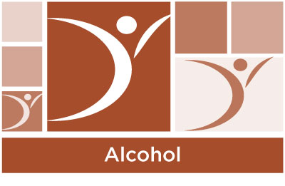 stylish brown abstract of squares and ASYR icon symbol with the word alcohol