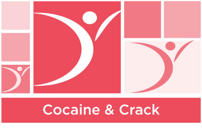 stylish coral abstract of squares and ASYR icon symbol with the words cocaine and crack