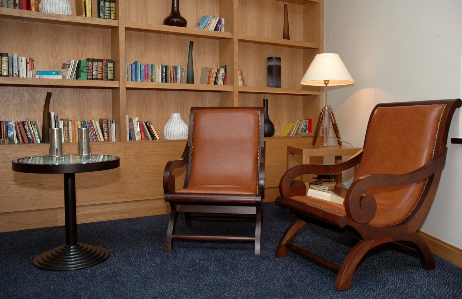 Two chairs in comfortable office setting