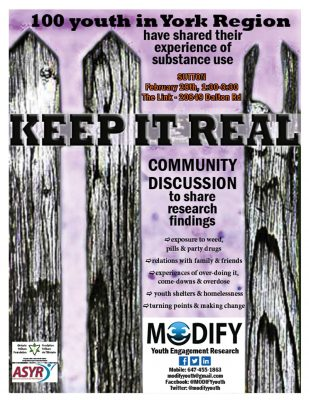 Keep it Real Community Discussion Poster on Youth Substance Use