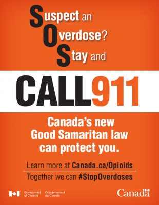 SOS Poster - Suspect and Overdose? Stay and Call 911