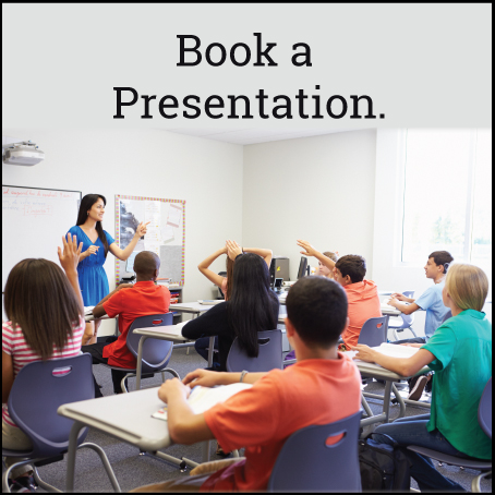 book a presentation for school or workplace