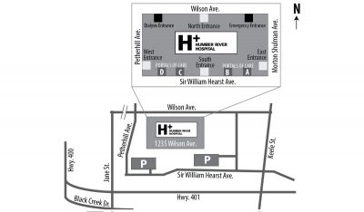humber river hospital site map