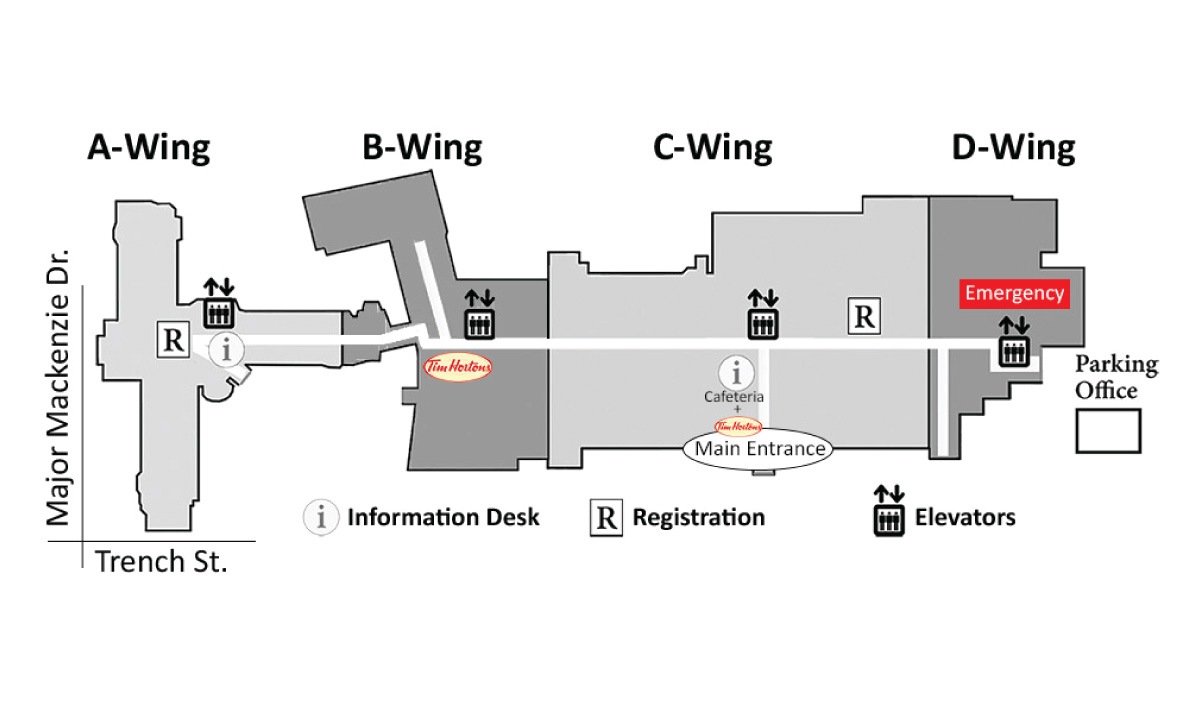 Mackenzie Richmond HIll Hospital site map