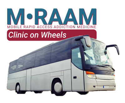 mobile rapid access addiction medicine bus on wheels