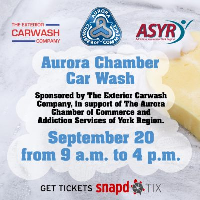 soapy sponge on car hood symbolizing upcoming chairty car wash with proceeds to ASYR