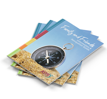 stack of Family Navigation Guide booklets