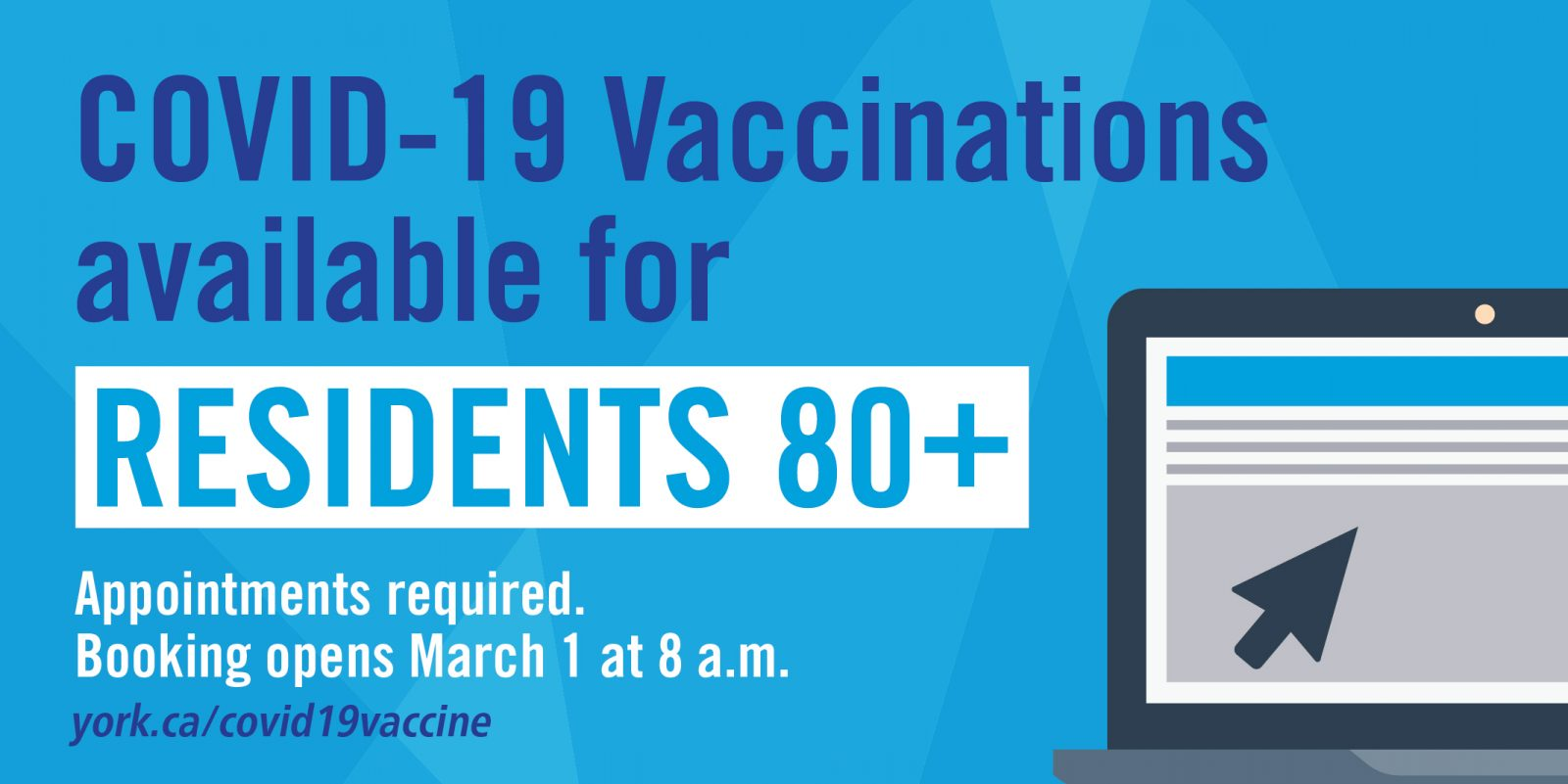 graphic of york region covid-19 vaccine for residents 80+