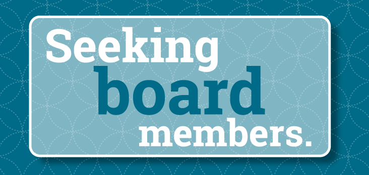 decorative image with the words seeking board members.